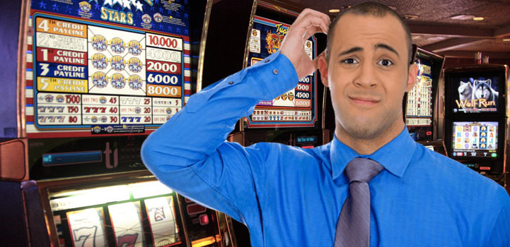 Man Puzzled by Slots